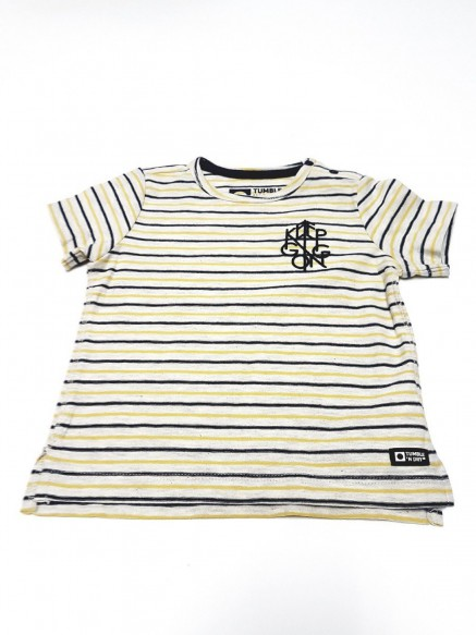 T.SHIRT COTONE BABY RIGHE NOEL