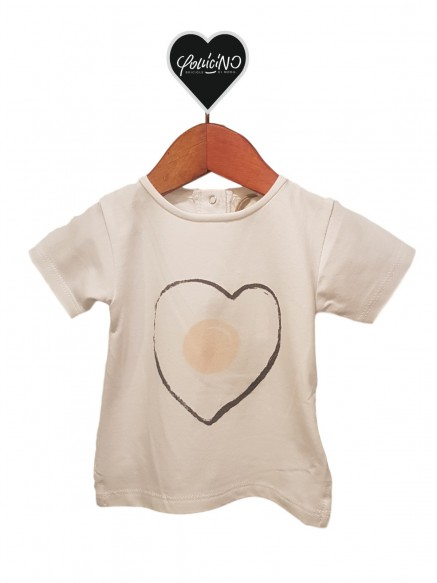 T.SHIRT BABY COTONE - CUORE